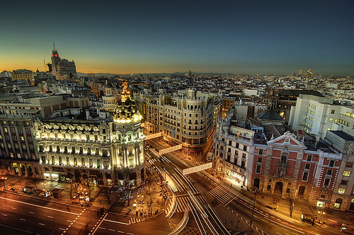 Madrid's city lights, Madrid car rental